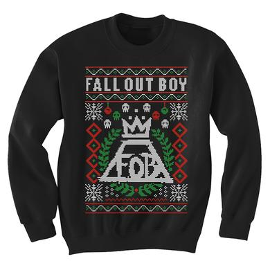 Fall Out Boy Mini Skulls Holiday Crew Neck
