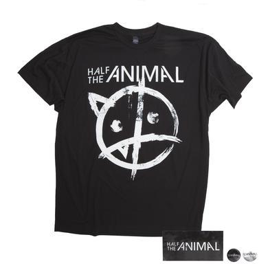 Half The Animal Logo Tee Black