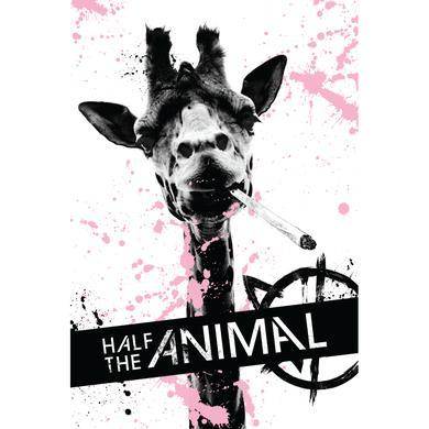 Half the Animal Signed Poster - Giraffe