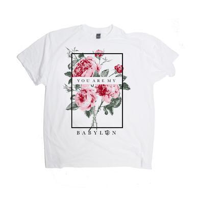 Half the Animal Babylon Rose White Tee