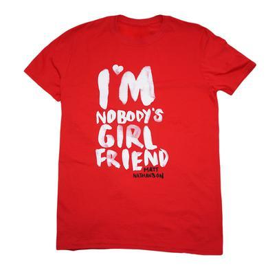 Matt Nathanson Ladies Nobody's Girlfriend Red Tee