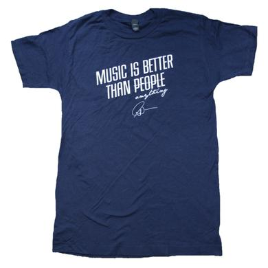 Matt Nathanson Music Better Than People Navy Tee