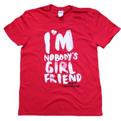 Matt Nathanson I'm Nobody's Girlfriend Red Tee