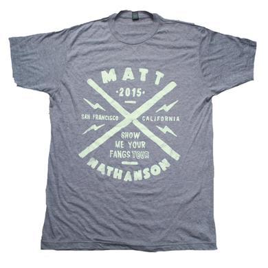 Matt Nathanson Fangs Tour Tee Grey
