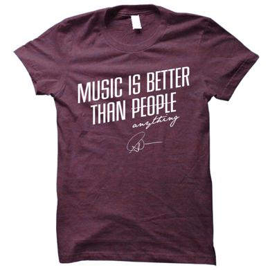 Matt Nathanson Music Is Better Than People Tri-Berry Tee