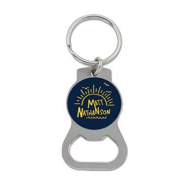Matt Nathanson Blue Sunrise Bottle Opener Keychain