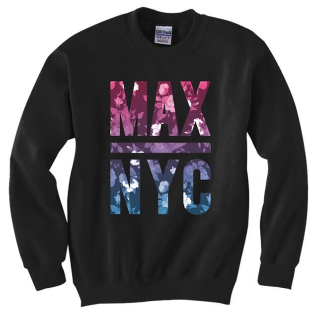 MAX NYC Floral Crewneck