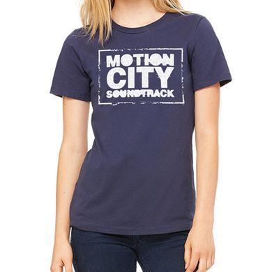 Motion City Soundtrack Ladies Logo Navy Tee