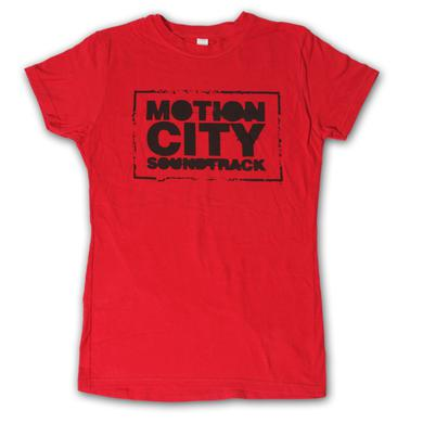 Motion City Soundtrack Ladies Red Logo Tee