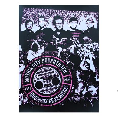 Motion City Soundtrack Boombox Generation Poster