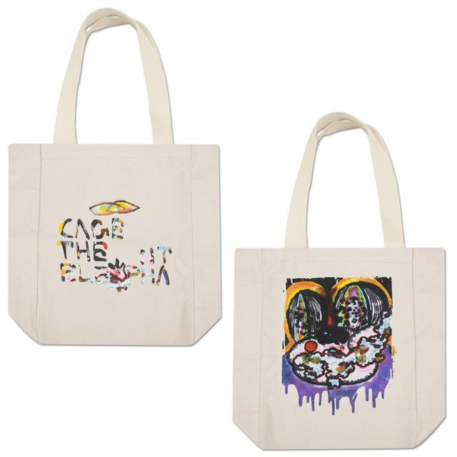 Cage The Elephant Face Drip Tote Bag