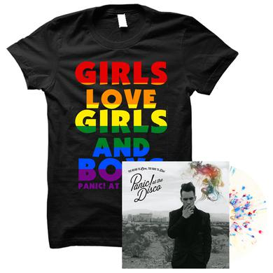 Panic At The Disco Too Weird to Live, Too Rare To Die Vinyl + Girls Like Girls Tee