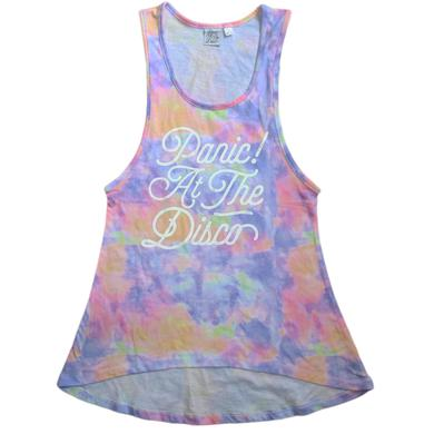 Panic At The Disco Ladies Tie Dye Tank Top