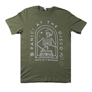 Panic At The Disco Olive Skeleton Tee