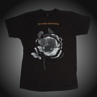 The Naked And Famous Tour Flowers 2014 Black Tee