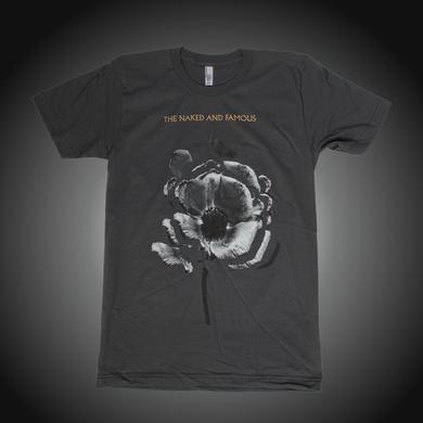 The Naked And Famous Tour Flowers 2014 Grey Tee