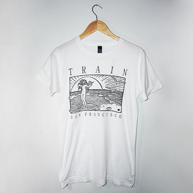 Train San Francisco White Tee
