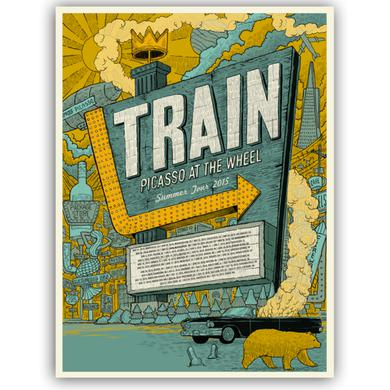 Train Picasso at the Wheel Tour Poster