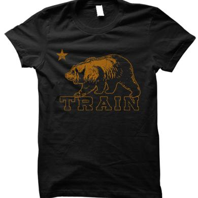 Train Cali Bear Black Tee