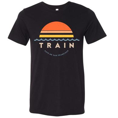 Train Sunset Waves Tee