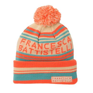 Francesca Battistelli Striped Pom Beanie