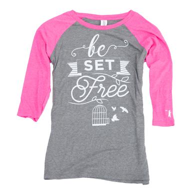 Sidewalk Prophets Be Set Free 3/4 Sleeve Tee