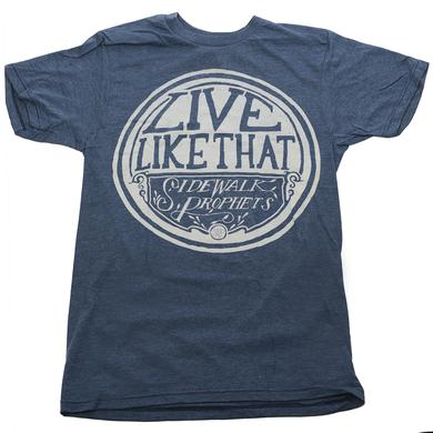 Sidewalk Prophets LIVE LIKE THAT HEATHER BLUE T-SHIRT