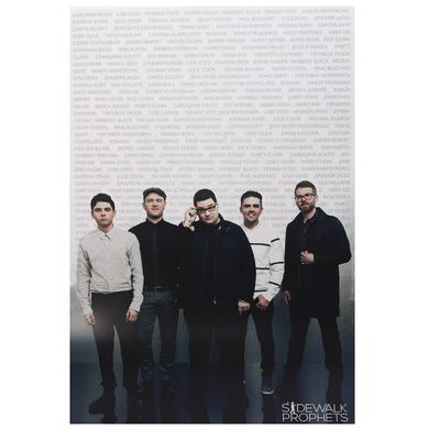 Sidewalk Prophets FAN NAME POSTER