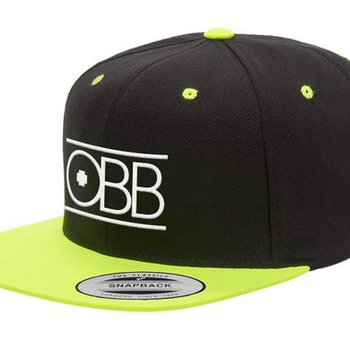 OBB Band Black & Neon Yellow Logo Snapback
