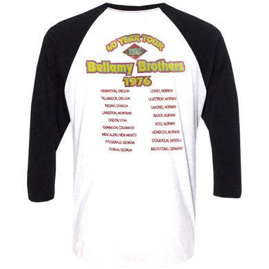 Bellamy Brothers White and Black Raglan 40 Year Tour Tee
