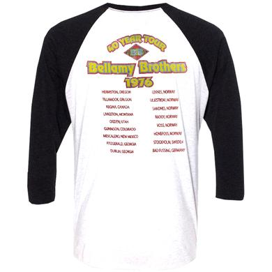 Bellamy Brothers 2016 White and Black Raglan 40 Year Tour Tee