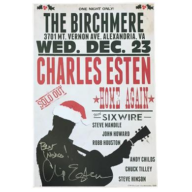 Charles Esten AUTOGRAPHED 2015 Birchmere Dec 23 Poster