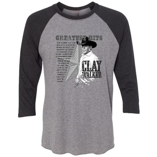 Clay Walker Grey and Black Raglan Tee