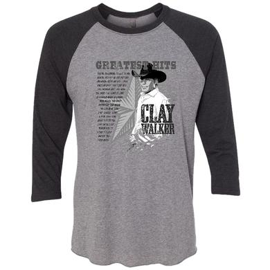 Clay Walker Grey and Black Raglan Tee