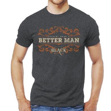 "Clint Black ""Better Man"" Dark Heather Tee"