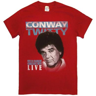 Conway Twitty Antique Cherry Red Hello Darlin' Tee
