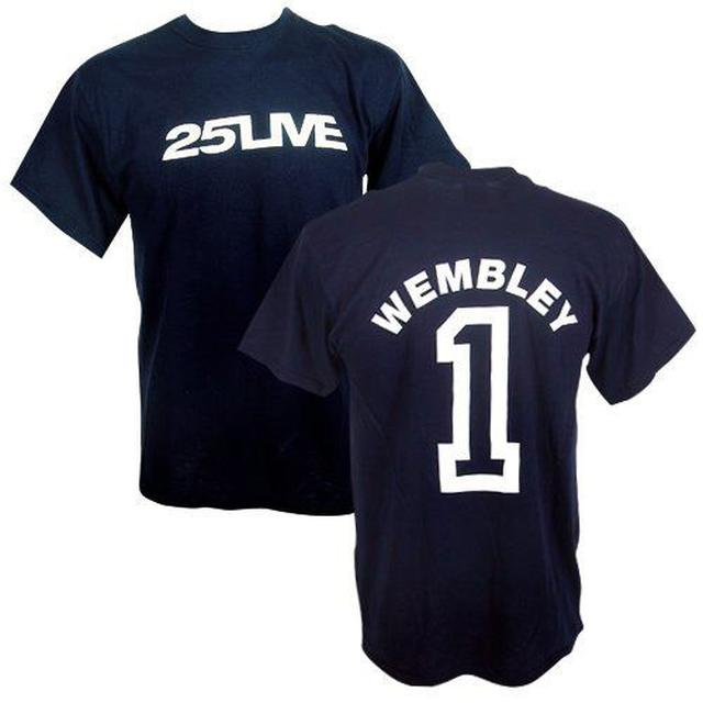 George Michael GM Wembley Event 25Live Navy T-shirt