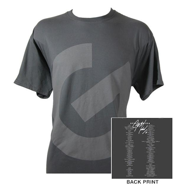 George Michael G Logo/Itinerary Charcoal T-shirt