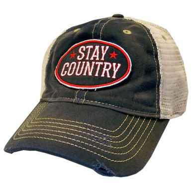 Dustin Lynch Stay Country Navy and Khaki Distressed Ballcap