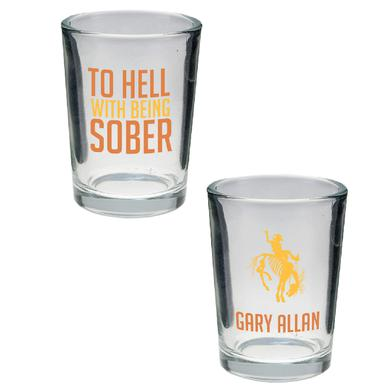 Gary Allan To Hell With Being Sober Double Shot Glass