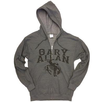 Gary Allan Dark Heather Zip Up Hoodie