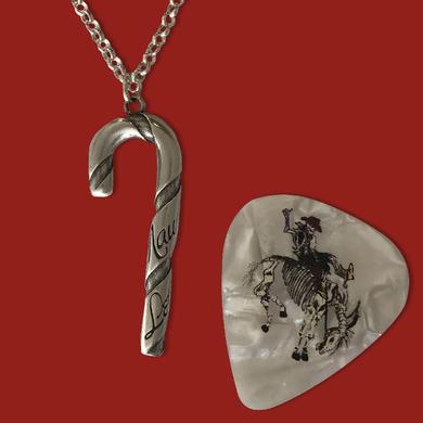 Gary Allan Sterling Silver Candy Cane Necklace and Charm