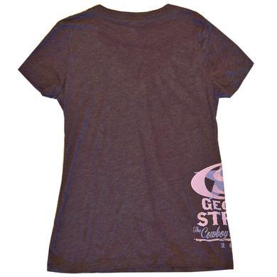 George Strait Ladies Heather Purple V Neck Tee