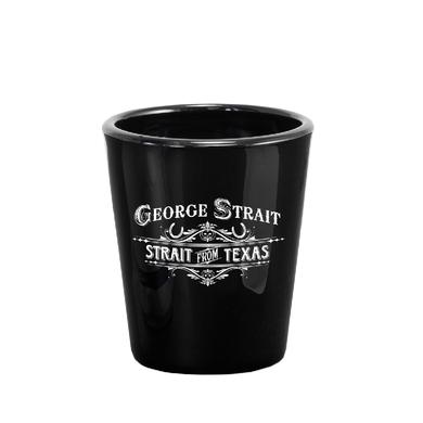 George Strait Black Shotglass- Strait From Texas