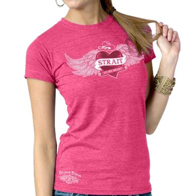 George Strait Ladies Heather Fuschia Tee