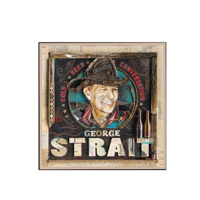 George Strait Cold Beer Conversation Album Cover Magnet