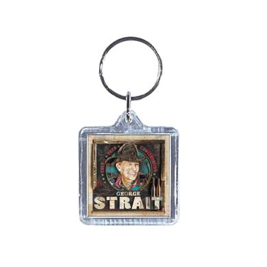 George Strait Cold Beer Conversation Acrylic Keyring