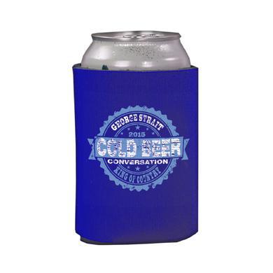 George Strait Cold Beer Conversation Royal Koozie