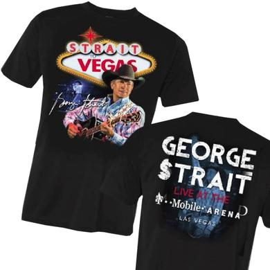 George Strait Black Strait To Vegas Live Photo Tee