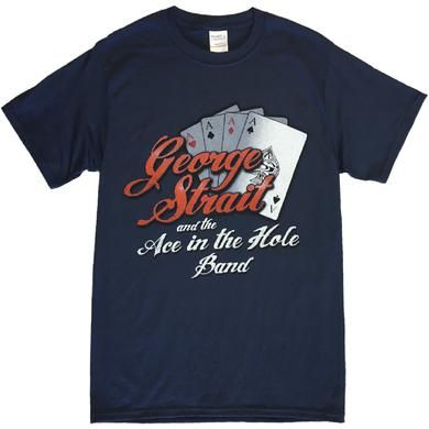 George Strait Navy Ace In the Hole Band Tee